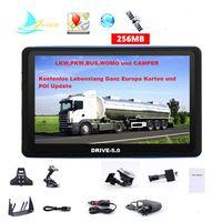 5 Zoll GPS Navigationssystem DRIVE-5.0 mit TMC funktion für LKW, PKW, BUS, WOHNMOBIL