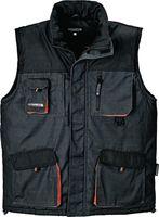 Terrax Weste Größe XXL gefüttert dunklegrau / schwarz / orange 65% Polyester / 35% Baumwolle - 4300 FB6310