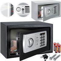 KESSER® Tresor Safe Elektronik-Zahlenschloss 31x20x20cm LED-Anzeige Stahlbolzen , Farbe:Silber