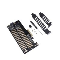 Dual NVME SATA Adapter PCIe x4, M.2 Festplatten Key M to PCI Express Erweiterungskarte, Unterstützung 2230 2242 2260 2280