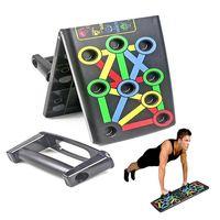 Faltbares Push Up Rack Board System Fitness Körpertraining Workout Übungsstand