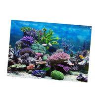Aquarium Hintergrund, Klebstoff Poster Aquarium Wand Dekor Aufkleber Koralle s wie beschrieben