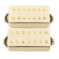 Steg & Hals Humbucker Tonabnehmer Double Coil Pickups Set für 7 Saiten E-Gitarre Set von 2 - Gelb