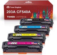Lebenspiel Druckerpatronen 4 Pack 203A CF540A-CF543A 203X CF540X Toner kompatibel für HP Color Laserjet Pro MFP M281fdw MFP M280nw MFP M281 MFP M280 M254nw M254dw M254dn MFP M281fdn MFP M281cdw M254 Printer