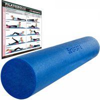 ScSPORTS® Pilatesrolle, Gymnastikrolle, Schaumstoff, Blau, 15 x 90 cm