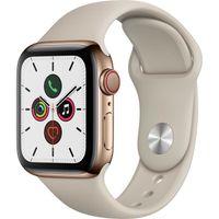 Apple Watch Series 5 Cellular 40mm Gold Edelstahlgehäuse mit Sportsteinarmband - S / M
