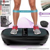 Sportstech 3D Vibrationsplatte VP300 | Mega Fett-Verbrenner + 5 Fitness-Bänder Extra | Riesige Fläche + extrem leiser Dual-Motor + Bluetooth Lautsprecher+Remote & Poster | Fitnesstraining von Zuhause