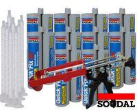 Soudal Kombiset 10x 2K Schnellfest Zargenschaum á 210ml + 2K Pistole DM21-Metall