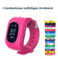 Smart Watch Kinder Tracker Wasserdicht Smartwatch GPS Uhr Armbanduhr Telefon Kid Rosa