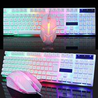 Beleuchtete Windows PS4 Gaming Tastatur und Maus Combo Box Schwimmendes Design Hohe Haltbarkeit, lange Lebensdauer Weiß
