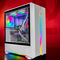 GameMachines Snow Edition - RGB Gaming PC - Wasserkühlung- Intel® Core™ i7 10700F - NVIDIA GeForce RTX 2060-500GB SSD - 2 TB Festplatte - 16GB DDR4 - WLAN - Windows 10 Pro