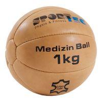 Medizinball aus Leder, Ø 19 cm, 1 kg