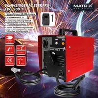 MATRIX Schweißgerät Elektroschweißgerät Elektrodenschweißen 230V/400V EWS 200-1