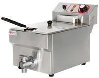 Beeketal Gastronomie Friteuse Fritteuse 230V, Fritteuse BTF/BWF:BTF10B - 9 L mit Ablaufhahn