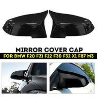 Paar Spiegelkappe Gehäuse Abdeckung Schwarz Für BMW F20 F21 F22 F30 F32 F36 X1