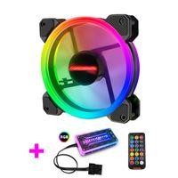 120MM RGB Computer Lüfter mit Fernbedienung, Ein Lüfter mit einem Controller