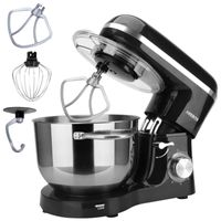 AREBOS Küchenmaschine 1500W 6L Edelstahl-Rührschüssel Geräuschlos 6 Stufen - direkt vom Hersteller