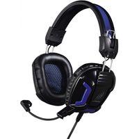 Hama uRage SoundZ Essential Headset, schwarz/blau 3.5 mm Klinke schnurgebunden
