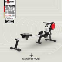 SportPlus Rudergerät für zuhause, klappbar, Rudermaschine mit Magnet- oder Turbinenbremssystem, kugelgelagerter Rudersitz, SP-MR-020