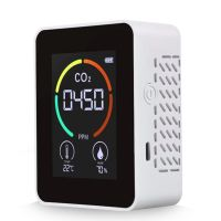 3 in 1 Kohlendioxid-Detektor Luftqualitaetsmonitor Temperatur Luftfeuchtigkeit Luftanalysator fue r CO2 Digitales CO2-Messgeraet fue r Home Office