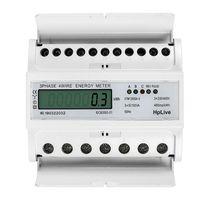 Unterstromzähler LCD Digitaler Drehstromzähler Hutschiene 5-100A Digital 3-Phasen-4-Draht Geeicht Für DIN Hutschiene