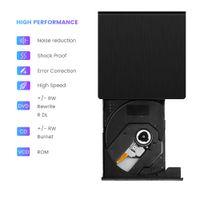 Extern DVD Laufwerk USB 3.0 CD-RW DVD Brenner Player für PC Laptop Notebook