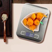 Küchenwaage aus Edelstahl 5 kg 1 g elektronische Haushaltswaage Hochpräzise elektronische  Nudelbackwaage