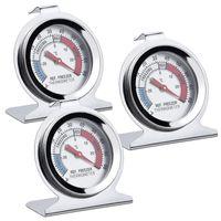 Kühlschrankthermometer Bimetall und selbstklebend Thermometer für Kühl Gefrierschränke
