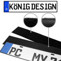 2 x Kennzeichenhalter Klett Nummernschildhalter Rahmenlos Kennzeichenhalterung