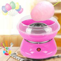 Zuckerwattemaschine | Automat Zuckerwattegerät 500W  - mit 10 * Süßigkeiten Floss Sticks + 1 * Zuckerlöffel Rosa