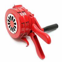 Handsirene Aluminiumgehäuse Sirene Handkurbel Klappbar Alarmsirene Rot