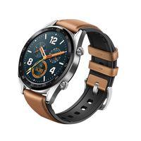 Smart Watch Leder + Silikon Armband fš¹r Huawei Watch GT / Active 46mm