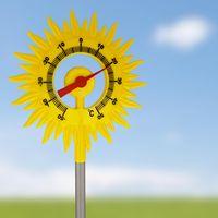 Lantelme Analog Thermometer Sonne