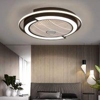 23 Zoll 45W LED Fan Deckenventilator mit Lampe Deckenleuchte mit Ventilator Fernbedienung Lüfter Dimmbar Kronleuchter mit Fernbedienung Dimmen Pendelleuchte