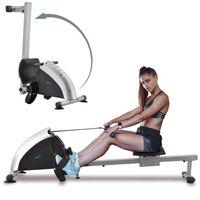 ArtSport Rudergerät Musculara für Zuhause – Heimtrainer klappbar mit 8 Schwierigkeitsgraden, Zeit- & Kalorienanzeige – Ruderzugmaschine bis 100kg
