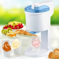 Syntrox Gino Gelati 4in1 Softeismaschine, Eismaschine, Frozen Yogurt-Milchshake Maschine, Flaschenkühler