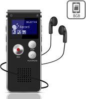 Digitales Diktiergerät,8 GB Tonaufnahmegerät, HD Audio Recorder 3 Mode,MP3-Player / A-B-Wiederholung / One-Touch-Aufnahme,Sprachrekorder für Vorträge / Meetings / Interviews / Unterricht