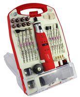 Matrix Akku Minischleifer Multifunktioswerkzeug 118 tlg. Zubehör im Koffer 18.000 U/min 1300mAh Li-Ion Akku