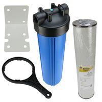 Hauswasserfilter 20 Zoll BigBlue Vorfilter Gartenfilter Brunnen + Eisenfilter RFFE20-BB
