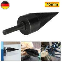 45mm Kegelspalter Drillkegel High Speed Twist-Holzspalter Brennholz Gewinde Für Bohrmaschine