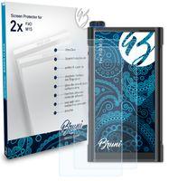 Bruni Basics-Clear 2x Schutzfolie kompatibel mit FiiO M15 Folie