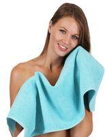 schwa Betz 8er Handtuch Set DELUXE Badetuch Duschtuch Handtücher Seiftuch blau