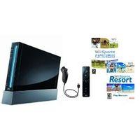 Nintendo Wii 'Sports Resort Pak' - Konsole inkl. Wii Sports, Wii Sports Resort + Remote Plus Controller, schwarz
