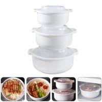 3 Stück Mikrowellenbehälter für Lebensmittel Aufbewahrungsbehälter für Lebensmittel mit transparenten Deckeln
