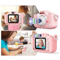 Digitale 1080P HD-Kindervideokamera, Doppelkamera 2000W + 32G Speicherkarte