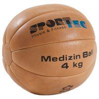 Medizinball aus Leder, ø 28 cm, 4 kg