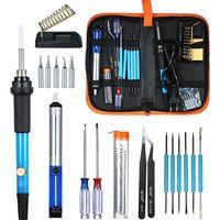 20-teiliges elektronisches Loetkolben-Kit mit elektronischen Reparaturwerkzeugen mit einstellbarer Temperatur