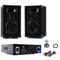 Anlage mit PA Boxen und Bluetooth Verstärker DJ-Compact 3