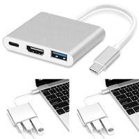 Typ C zu USB-C 4K HDMI USB 3.0 3-in-1-Hub-OTG-Adapterkabel Für Apple Macbook Neu