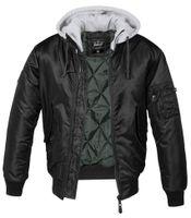 Brandit Jacke MA1 Sweat Hooded Jacket in Black-Grey-XXXXXL